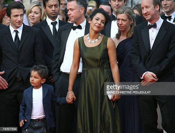 Actor Dan Futterman, Indian actor Irrfan Khan , British director Michael Winterbottom, French journalist and writer Mariane Pearl and her son Adam,...