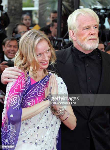 US actor Nick Nolte and guest arrive at the Festival Palace for the screening of the film 'Paris je t'aime' at the 59th edition of the International...
