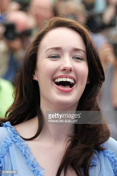 US actress Ashley Johnson laughs during a photocall for US director Richard Linklater's film 'Fast Food Nation' at the 59th edition of the...