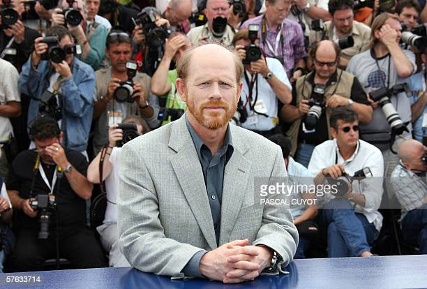 Director Ron Howard poses during the photocall for his film The Da Vinci Code at the 59th edition of the Cannes Film Festival in Cannes, Southern...