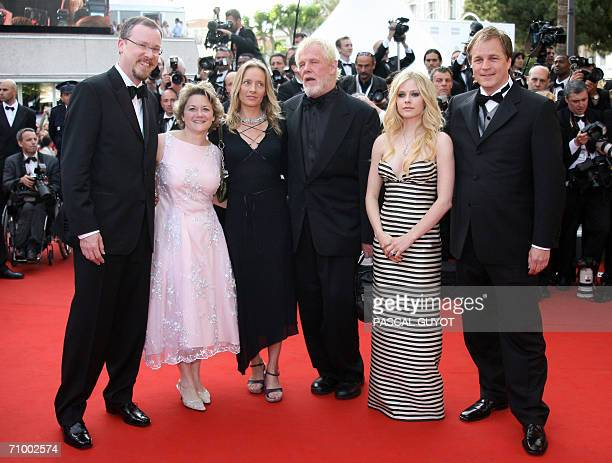 US director Tim Johnson producer Bonnie Arnold actor Nick Nolte and a guest Canadian singer/actress Avril Lavigne and US director Karey Kirkpatrick...