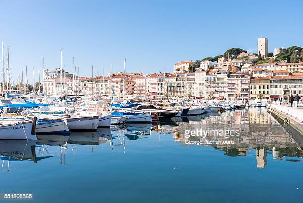 cannes harbor - cannes stock pictures, royalty-free photos & images