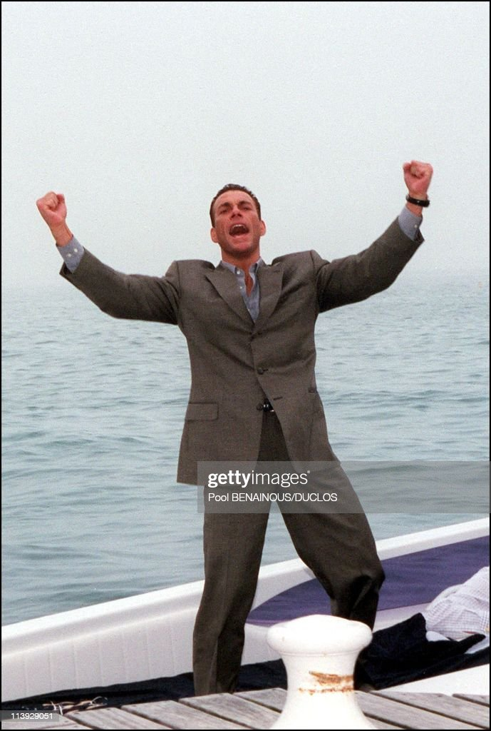 Cannes International Film Festival: Photo Call Jean Claude Van Damme In Cannes, France On May 12, 2000- : News Photo