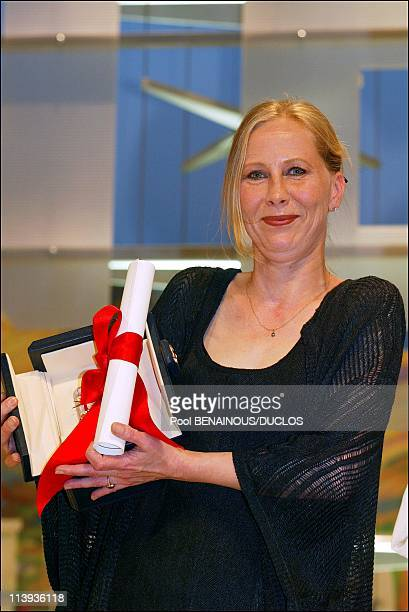 Cannes International Film Festival Prize ceremony In Cannes France On May 26 2002Best Actress Kati Outinen in The Man Without a Past