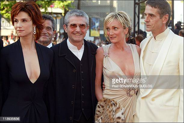 Cannes International Film Festival winner In Cannes France On May 26 2002Claude Lelouch and his wife Alessandra Martines Patricia Kaas and Jeremy...