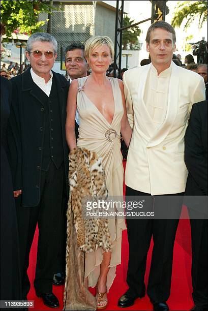 Cannes International Film Festival winner In Cannes France On May 26 2002Claude Lelouch Patricia Kaas and Jeremy Irons