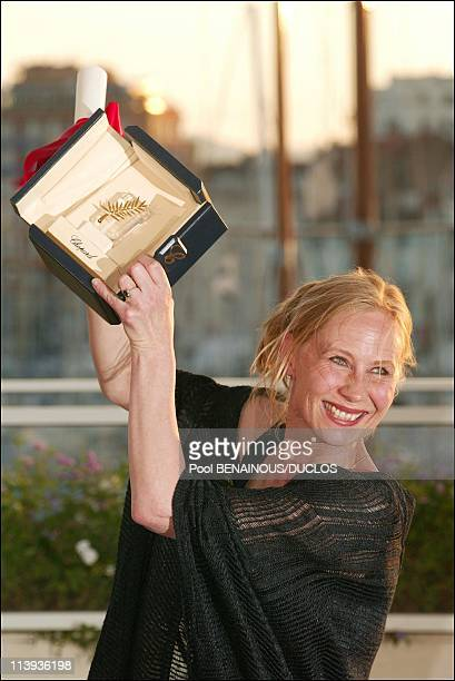 Cannes International Film Festival winner In Cannes France On May 26 2002Interpreting womanly prize Kati Outinen