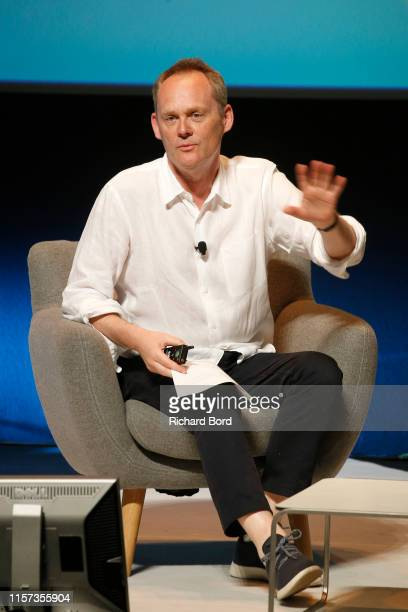 Cannes Lions Chairman Philip Thomas speaks on stage during the Lion of St Mark session at the Cannes Lions 2019 Day Five on June 21 2019 in Cannes...