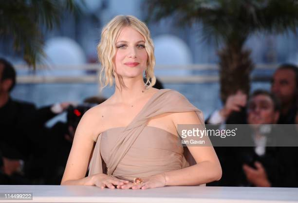 Cannes Master of Ceremony Melanie Laurent attends the Palme d'Or Winners Photocall at the Palais des Festivals during the 64th Cannes Film Festival...