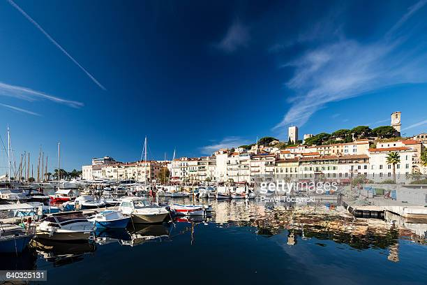 cannes old le suquet district - cannes stock pictures, royalty-free photos & images