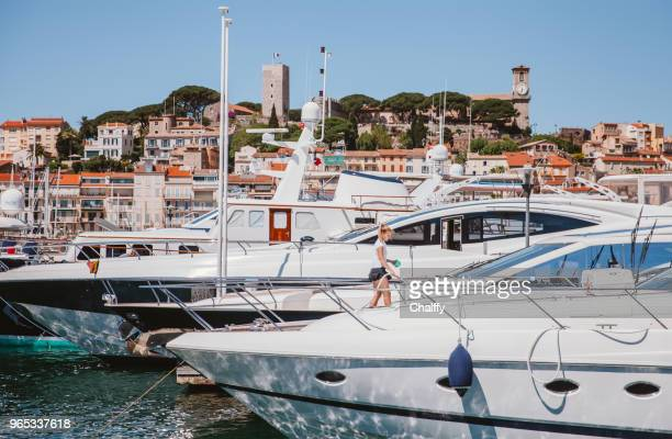 cannes port - yachting stock pictures, royalty-free photos & images