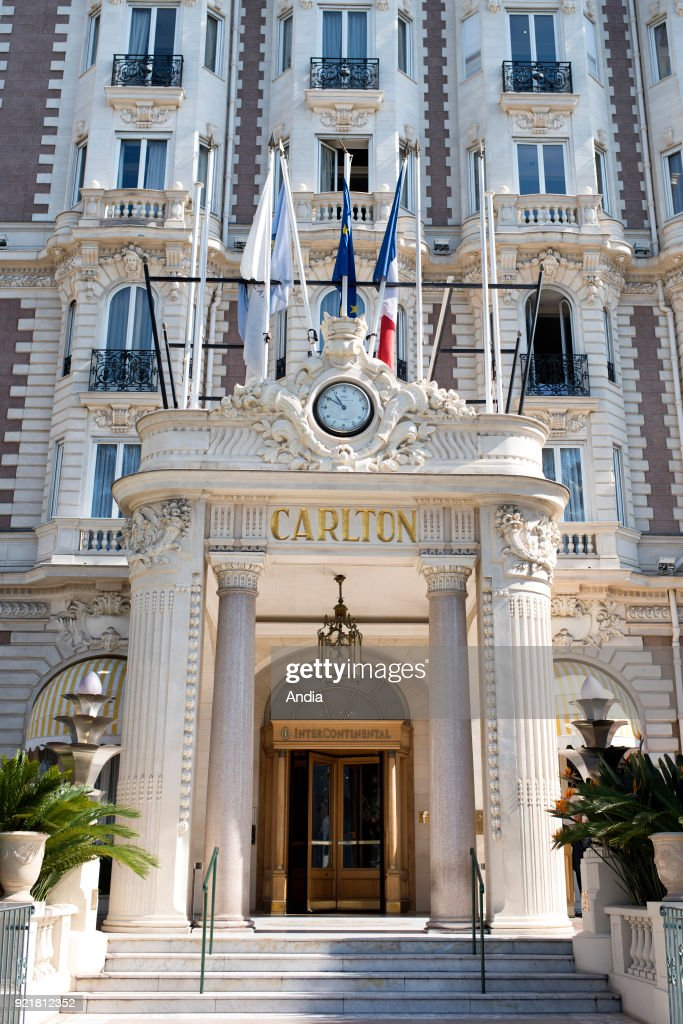 the InterContinental Carlton Hotel on La Croisette boulevard. The hotel is registered as a National Historic Landmark (French 'Monument Historique').