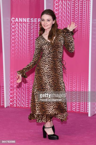 Canneserie digital jury member Jessica Barden attends the Closing Ceremony and Safe screening during the 1st Cannes International Series Festival at...