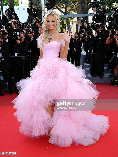 Model Adriana Karembeu attends 'The Beaver' Premiere at the Palais des Festivals during the 64th Cannes Film Festival on May 17 2011 in Cannes France