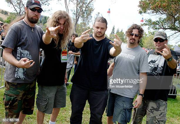 Cannibal Corpse Paul Mazurkiewicz Alex Webster George Corpsegrinder Fisher Pat O'Brien backstage at Sounds of the Underground 2006 at the Shoreline...