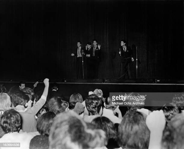 Cannibal the Headhunters onstage at The Shrine Auditorium circa 1965 in Los Angeles California