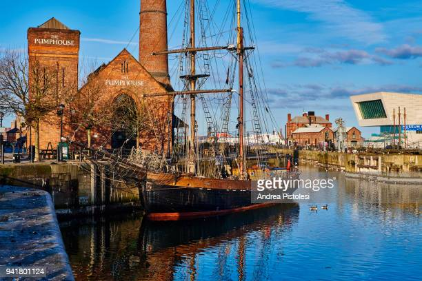 canning dock, liverpool, united kingdom - andrea canning stock pictures, royalty-free photos & images