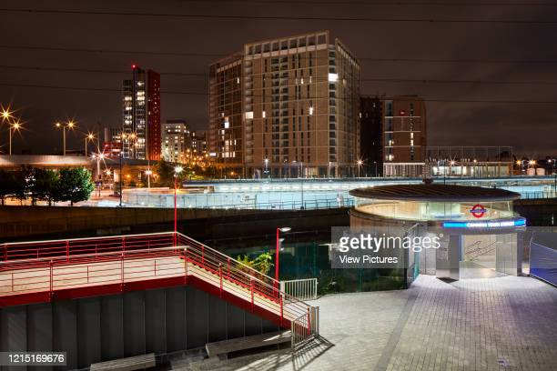Canning Town tube station at night Canning Town London United Kingdom Architect N/A 2017