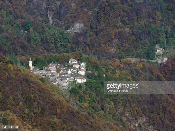 Cannobina Valley With Crealla Mountain Village