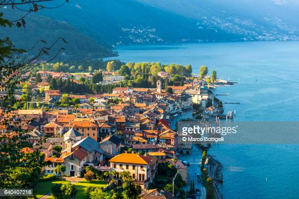 cannobio, verbano-cusio-ossola, lake maggiore, piedmont, italy. - piedmont italy stock pictures, royalty-free photos & images