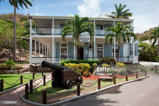 cannon at dockyard museum, the dockyards - west indies stock pictures, royalty-free photos & images