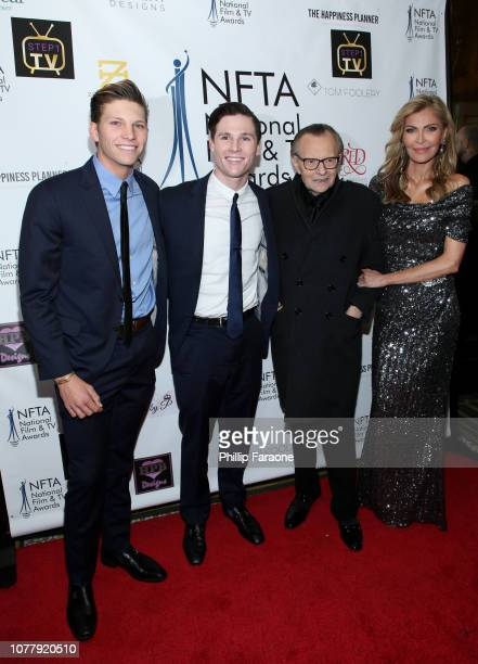 Cannon Edward King Chance Armstrong King Larry King and Shawn King attend the National Film and Television Awards Ceremony at Globe Theatre on...