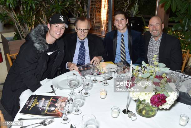 Cannon Edward King, Larry King, Chance Armstrong King and Larry King Jr. Attend the Friars Club honors Larry King for his 86th birthday at The...