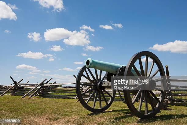 Cannon on a battlefield, Gettysburg