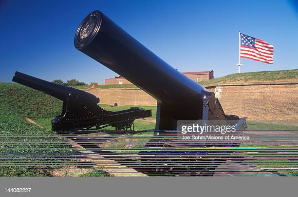 Cannon outside Fort McHenry National Monument in Baltimore MD