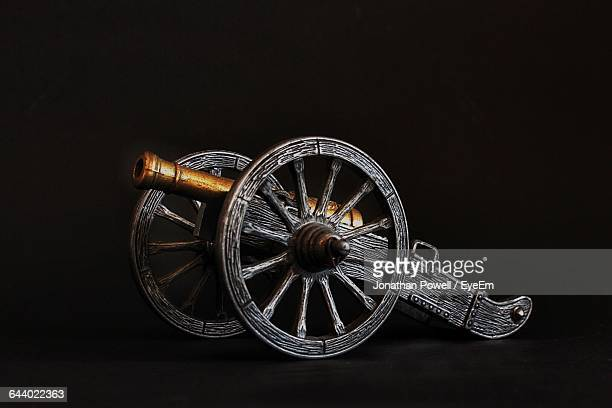 Cannon Over Black Background