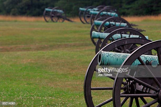 Cannon sit on Henry Hill at the battlefields of Manassas or Bull Run as it was generally known in the North July 5 2005 in Manassas Virginia It was...