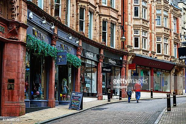 cannon street in birmingham, england - birmingham england stock photos and pictures