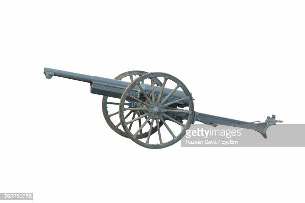 cannon wheel against white background - cannon stock pictures, royalty-free photos & images