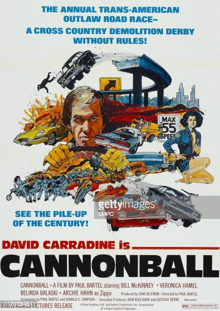 Cannonball poster David Carradine on poster art 1976