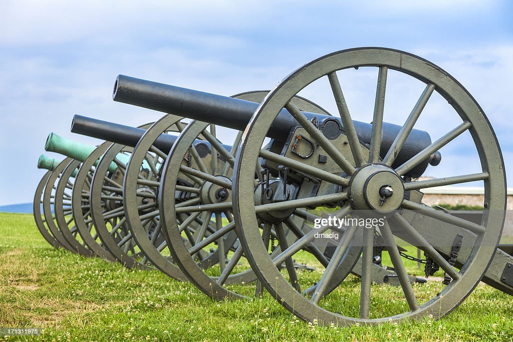 Cannons at Antietam National Battlefield : Stock Photo