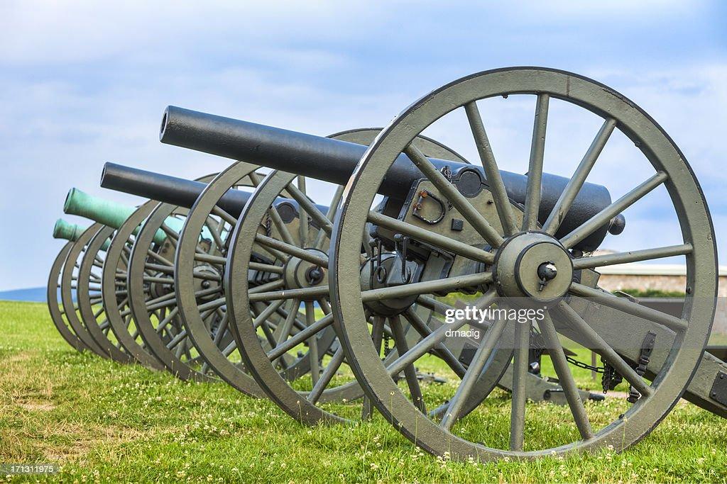 Cannons at Antietam National Battlefield : Stock Photo