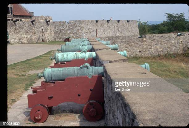 Cannons on South Wall of Fort Ticonderoga Point Toward Lake Champlain