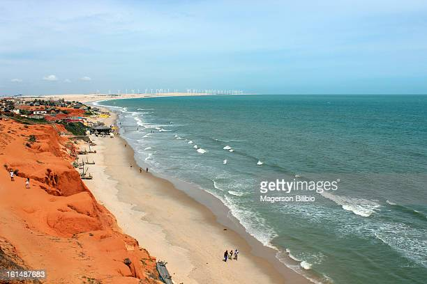 canoa quebrada - american style windmill stock pictures, royalty-free photos & images