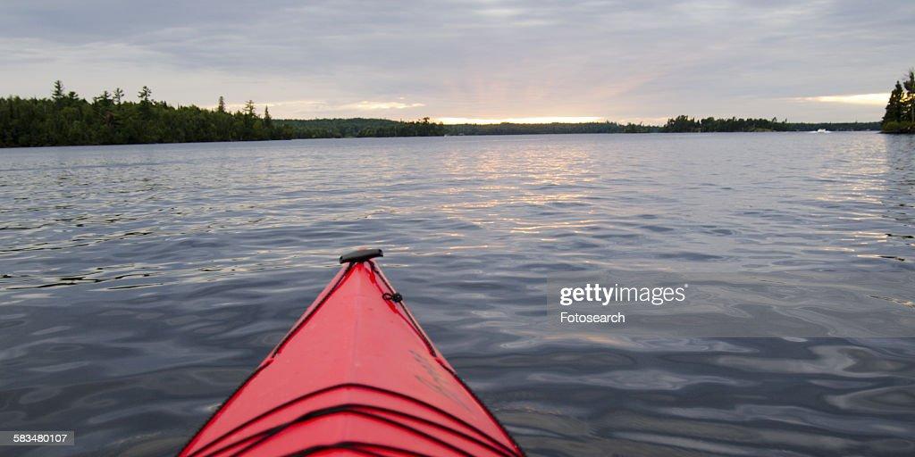 Canoe in a lake : Stock Photo