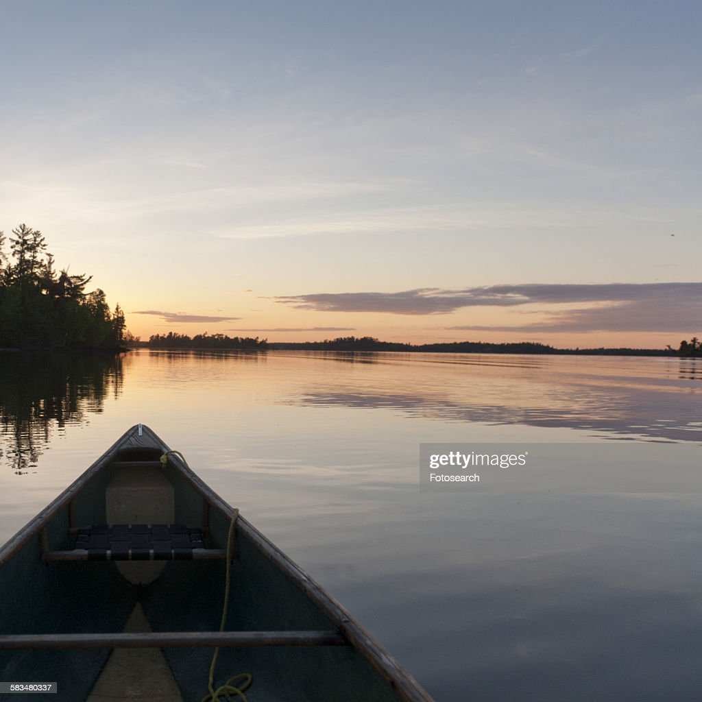 Canoe in a lake : Stock Photo
