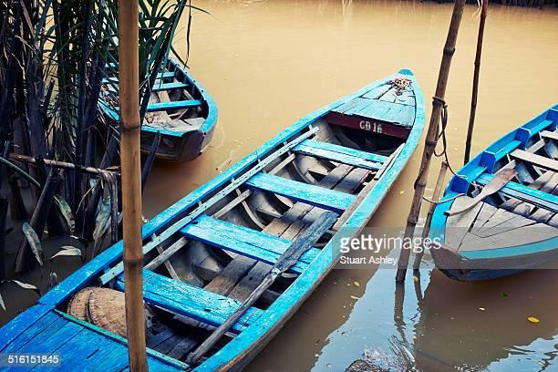 Canoe in Mekong Delta River