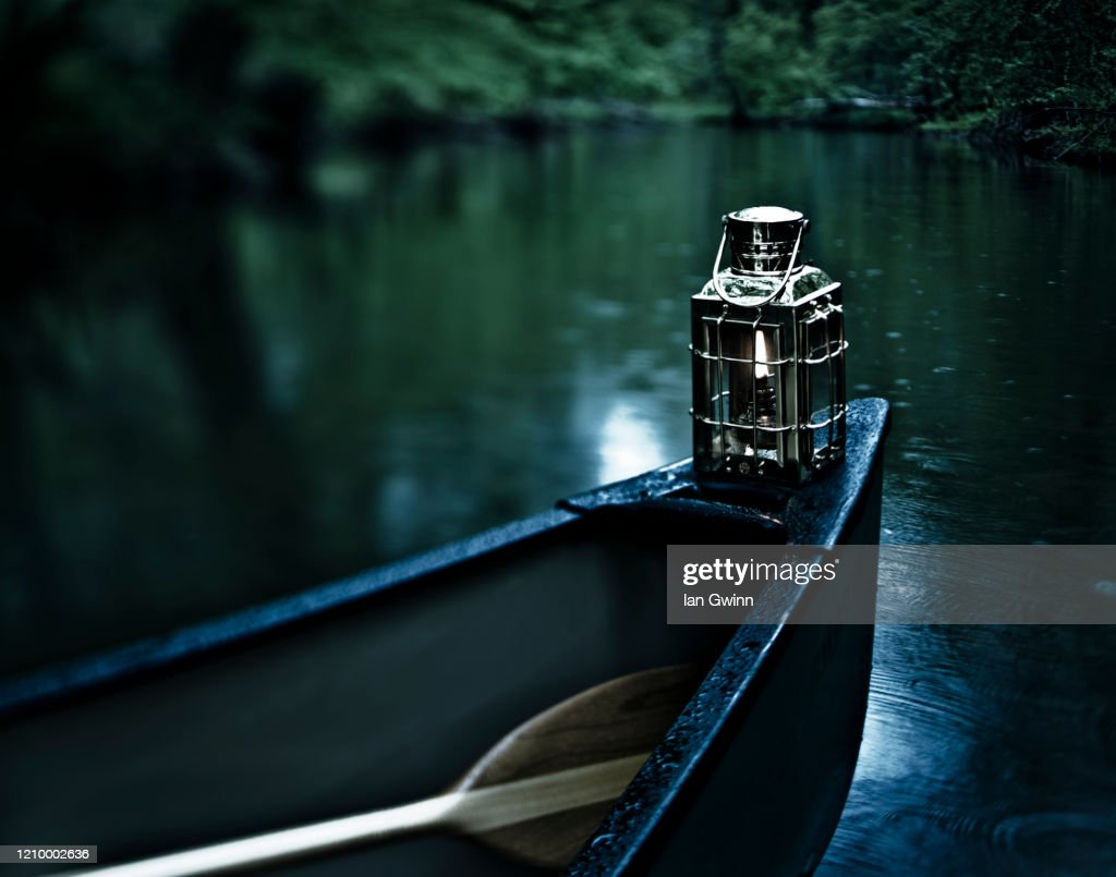 Canoe in the Abyss : Stock Photo