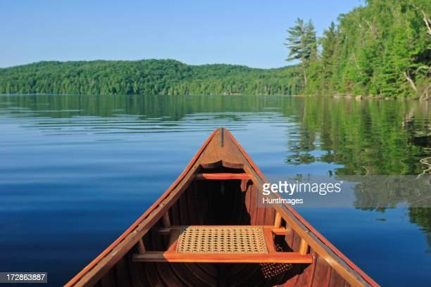 Kanu fahren in der Morgensonne