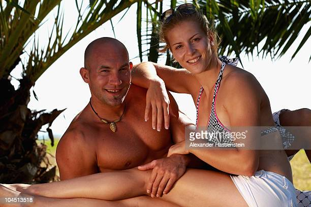 Canoe Olympic champions Fanny Fischer and Ronald Rauhe pose during the 'Champion des Jahres' event week at the Robinson Club Quinta da Ria on...