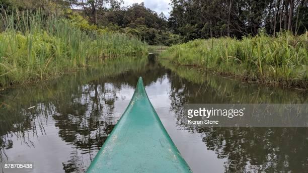 Canoe on River in Madagascar