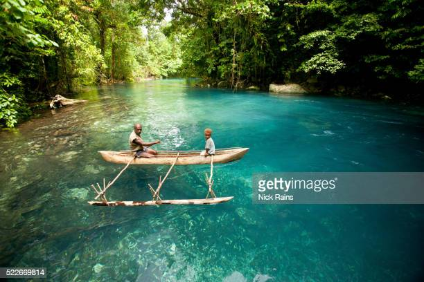 Canoe on the Sivoli River, New Britain, PNG