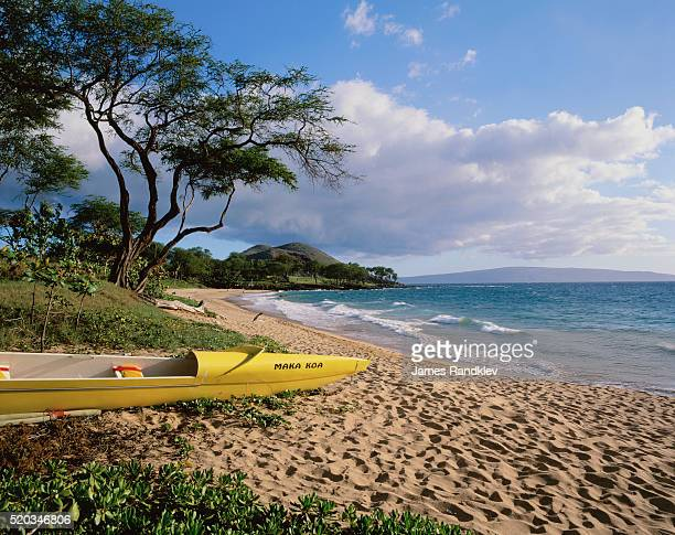 Canoe on Wailea Beach