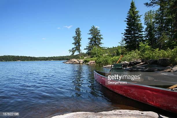 Canoe on Wilderness Lake