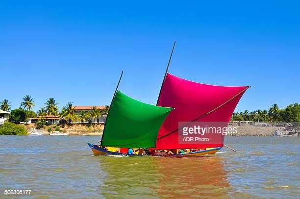 canoe sailing - brasil sergipe aracaju - fotografias e filmes do acervo