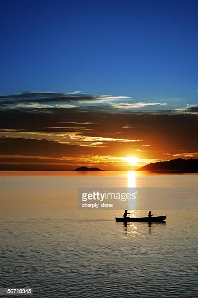 xxl canoe sunset - north stock pictures, royalty-free photos & images